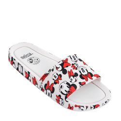 Melissa-Beach-Slide-Mickey-And-Friends-BrancoVermelho-Diagonal