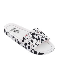 Melissa-Beach-Slide-Mickey-And-Friends-BrancoPreto-Diagonal