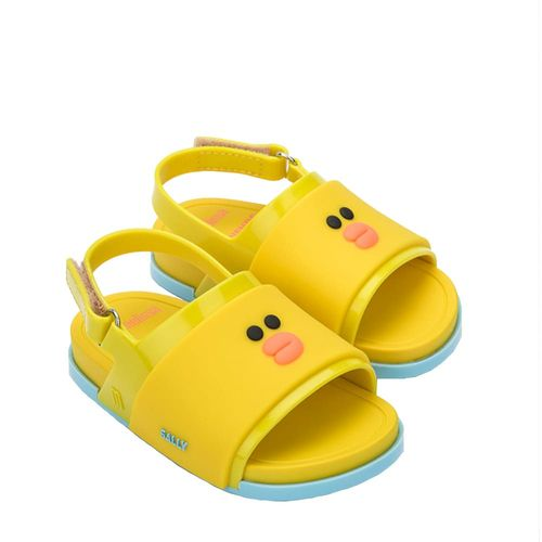 32919-Mini-Melissa-Beach-Slide-Sandal-Line-Friends-Amarelo-Diagonal