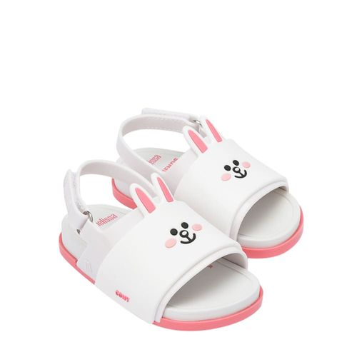 32919-Mini-Melissa-Beach-Slide-Sandal-Line-Friends-BrancoRosa-Diagonal