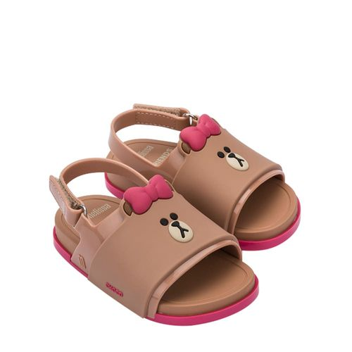 32919-Mini-Melissa-Beach-Slide-Sandal-Line-Friends-MarromRosa-Diagonal