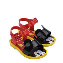 33234-Mini-Melissa-Mar-Sandal-Mickey-And-Friends-Bb-Vermelhopretoamarelo-diagonal