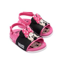 33395-51647-Mini-Melissa-Beach-Slide-Sandal-Mickey-And-Friends-BB-Rosa-Preto-Diagonal