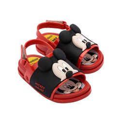 33395-50924-Mini-Melissa-Beach-Slide-Sandal-Mickey-And-Friends-BB-Vermelho-Preto-Diagonal
