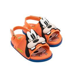 33395-52050-Mini-Melissa-Beach-Slide-Sandal-Mickey-And-Friends-BB-Laranja-Bege-Diagonal