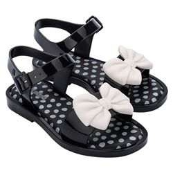 33474-51496-Mini-Melissa-Mar-Sandal-Princess-Preto-Bege-Diagonal