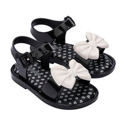 33473-51496-Mini-Melissa-Mar-Sandal-Princess-Bb-Preto-Bege-Diagonal
