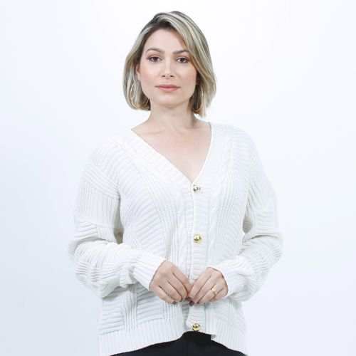 Casaco-Fabricia-de-Tricot-4-Botoes-Off-White-Frontal-Zoom